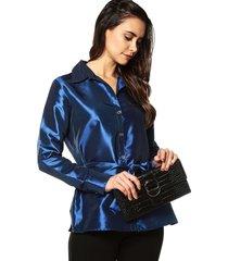 camisa elegante tafeta charby 136281