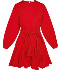 ella dress in candy red
