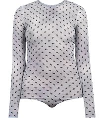 maison margiela printed bodysuit