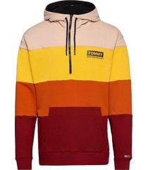 tjm half zip colorblock hoodie hoodie trui multi/patroon tommy jeans