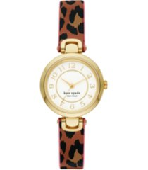 kate spade new york rainey park leopard-print reversible watch, 30mm
