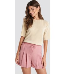 trendyol dry binding detailed shorts - pink