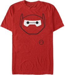disney men's big hero 6 baymax mask big face costume short sleeve t-shirt short sleeve t-shirt