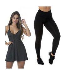 kit com 1 legging basic e 1 camisola sexy love