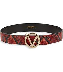 giusy logo python-print leather belt