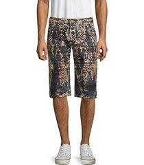 printed long flap shorts