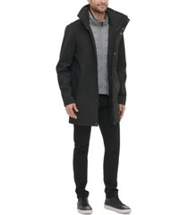 kenneth cole new york men's soft shell utility jacket with convertible hood