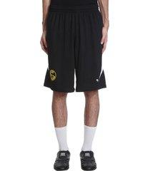 balenciaga shorts in black polyester