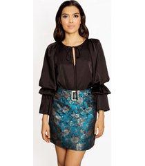 falda de flores azul virginia- ananá