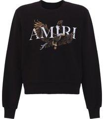 amiri eagle logo sweatshirt