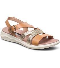 c-5621 shoes summer shoes flat sandals beige wonders