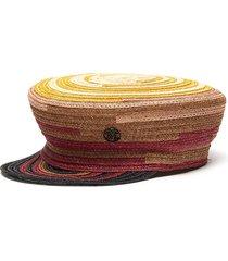 abby' gradient canapa straw newsboy cap