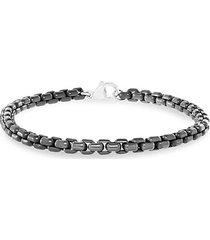 sterling silver box chain bracelet