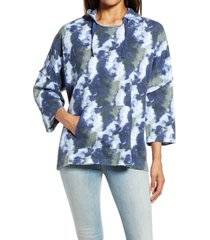 women's caslon easy terry hoodie, size x-small - blue