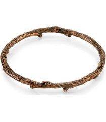 t.r.u. by 1928 burnished copper tone tree bangle bracelet