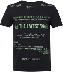 camiseta john john green fire masculina (preto, gg)