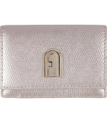 furla furla 1927 small leather flap-over wallet