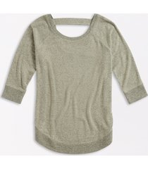 maurices womens solid brushed round hem pullover green