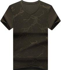 camiseta de manga corta para hombre verde