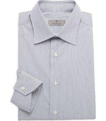 canali men's modern-fit pinstriped shirt - blue - size 44 (17.5)