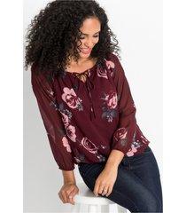 blouse met tunnelkoordje