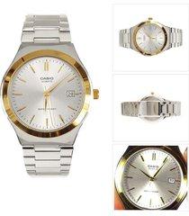 reloj casio elegante caballero mtp-1170g-7 a color bicolor