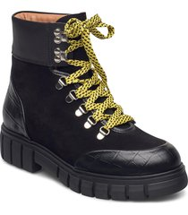 stb-rebel hiker croc shoes boots ankle boots ankle boot - flat svart shoe the bear
