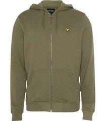 sweater lyle scott zip through hoodie