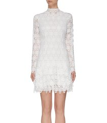 'guipure' lace mini dress