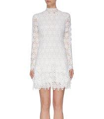 'guipure' lace mini dress