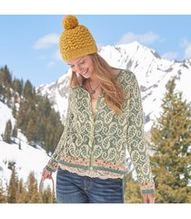 curry leaf cardigan sweater