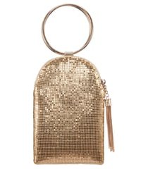 nina metallic mesh handbag - metallic