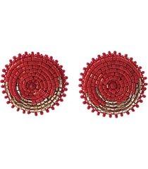 topo esfera tejido a mano rojo bijulovers