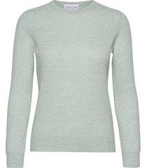 basic sweater stickad tröja grön davida cashmere