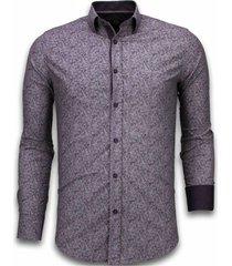 italiaanse overhemden - slim fit overhemd - blouse