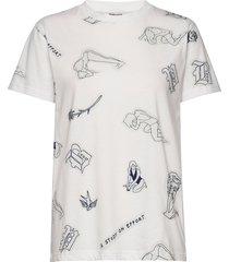 jolee t-shirts & tops short-sleeved vit baum und pferdgarten