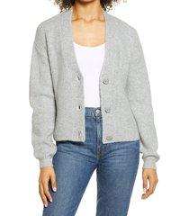 women's halogen rib cardigan, size xx-small - grey