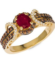 chocolatier® 14k honey gold®, passion ruby®, vanilla diamonds® & chocolate diamonds® ring