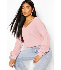 crop twist sweater, blush