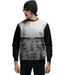 blusa de moletom vila de casas estilo retrô di nuevo masculino - masculino