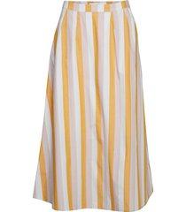 heathergz skirt hs19 knälång kjol gul gestuz