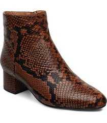vicky snake shoes boots ankle boots ankle boots with heel brun shoe the bear