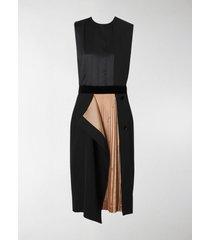 burberry pleated panel dress