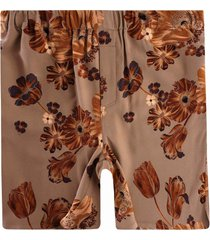 ami ami flower print shorts | beige | 1ht760-250