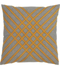 "saro lifestyle cotton throw pillow with cross hatch design, 18"" x 18"""
