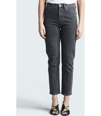 straight selma jeans - svart denim