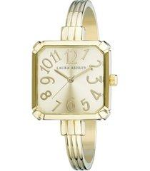 laura ashley gold skinny bangle square watch