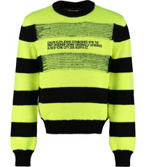 calvin klein jeans striped crew-neck sweater
