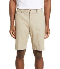 men's big & tall brax flat front bermuda shorts, size 44 - beige