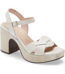 women's wonders block heel sandal, size 11us - white